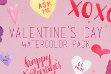 Watercolor Valentine's Day Pack