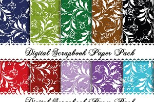 15 Floral Digital patterned paper
