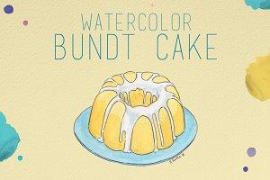 Watercolor Bundt Cake