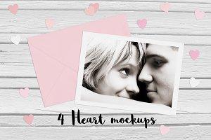 4 Heart mockups