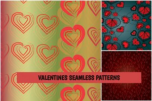 Valentines seamless patterns