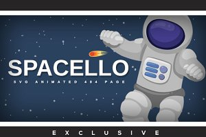 Spacello - SVG Animated 404 Page