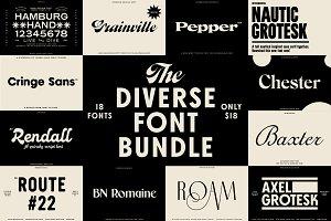 The Diverse Font Bundle
