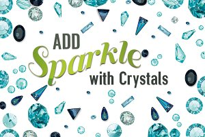 Blue Crystals and Gems Collection
