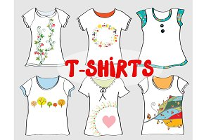 T-shirts designs vectors