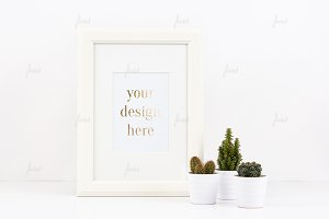 Photo-based White Frame Mockup
