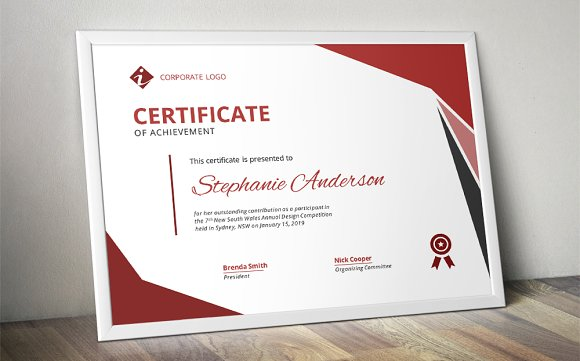 modern ms word certificate design stationery templates creative market