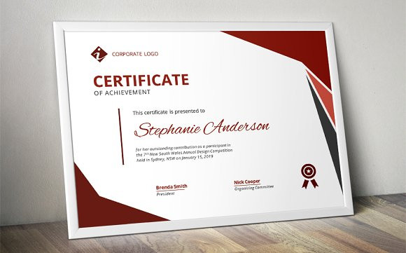 Modern ms word certificate design stationery templates creative modern ms word certificate design stationery templates creative market thecheapjerseys Gallery