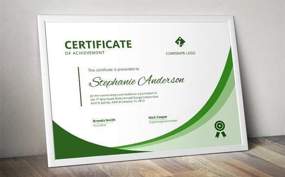 Modern Ms Word Certificate Stationery Templates Creative Market