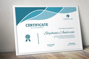 Modern docx certificate