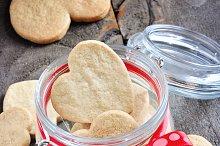 Shortbread cookies in a jar