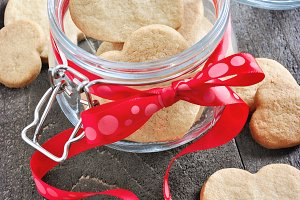 Shortbread cookies in a jar