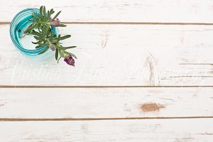 Styled Stock flower wood background