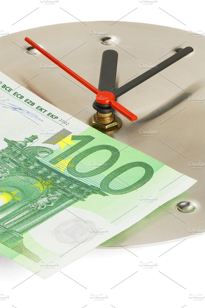 clock and euro.jpg - Business