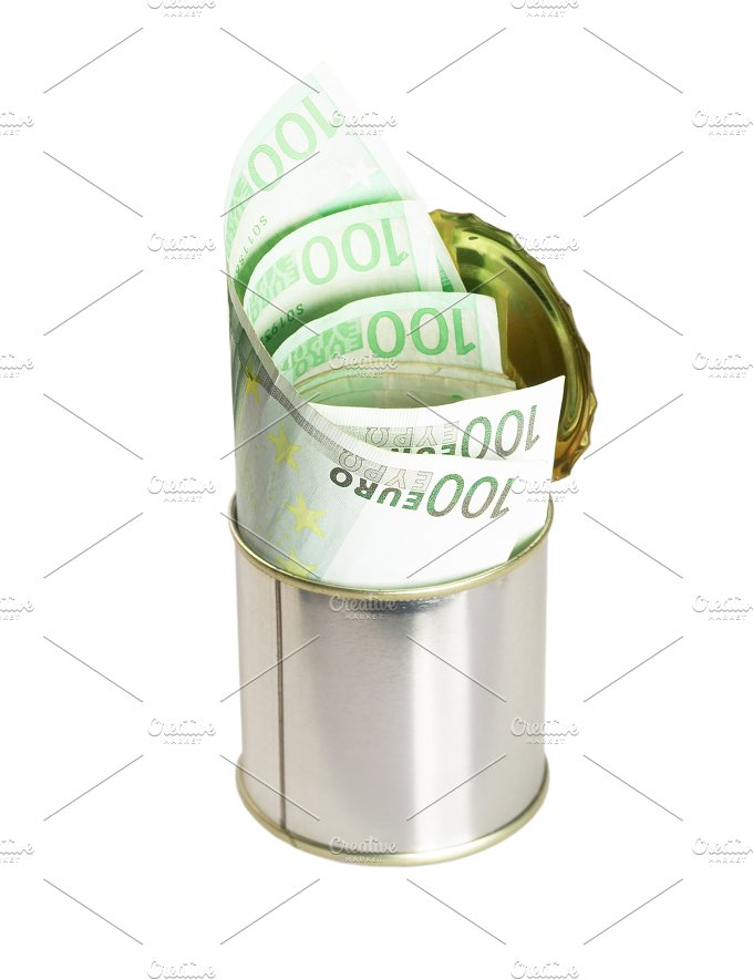 euro on a tin can 2.jpg - Business