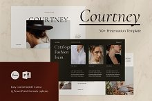 Courtney - CANVA PowerPoint Template by  in Presentations
