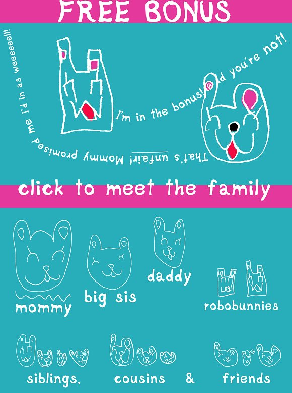 Piccolino Kodomo, font & bunnybonus! in Display Fonts - product preview 4