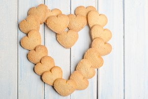 Big heart made with shortbread.
