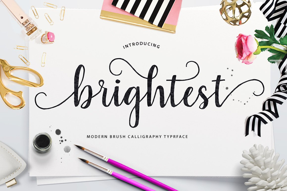 Brightest Script Fonts Creative Market