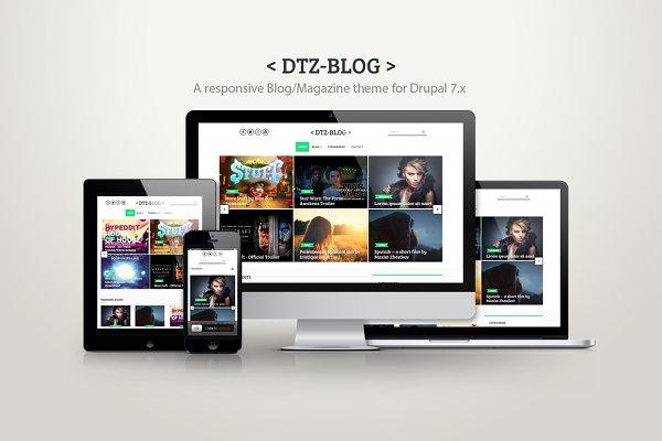 Drupal Themes: DrupalThemez - DTZ-Blog - A blog/magazine theme
