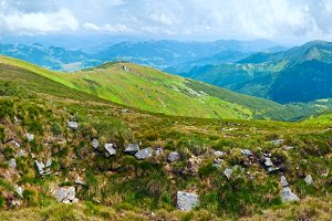 Summer mountain panorama.