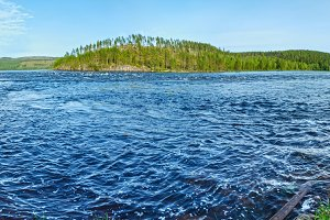 Summer river panorama (Sweden).