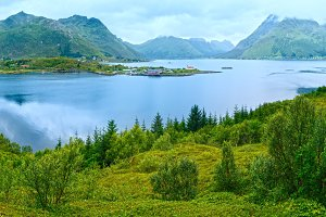 Lofoten summer view (Norway).