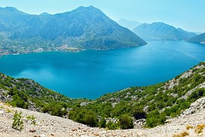 Bay of Kotor summer panorama.