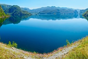 Summer mountain lake (Norway)