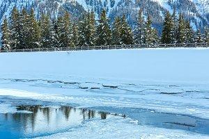 Winter mountain landscape.Austria.