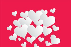 Valentine's background pink