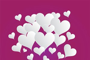 Valentine's background purple