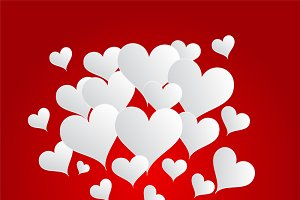 Valentine's background red