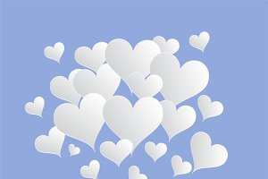 Valentine's background light blue