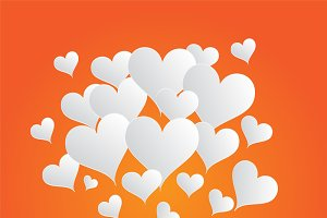 Valentine's background orange