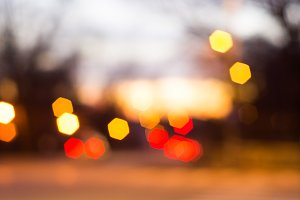 Glowing bokeh background