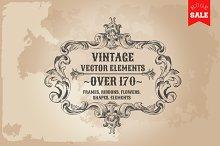 171 Vintage Frames, Banners, Labels