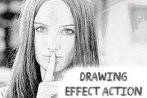 Drawing Effect Photoshop Action