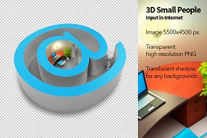 3D Small People - Input in Internet