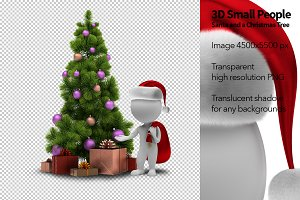 3D Small People - Santa