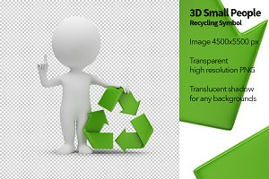 3D Small People - Recycling Symbol