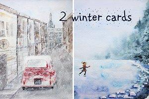 Snowy winter cards