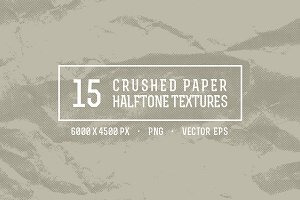 15 Crushed Paper Halftone Textures
