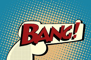 Bang comic book bubble