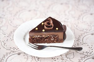 Piece of Chocolate Mousse Cake