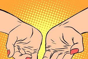 Womens hand heart shape love romance