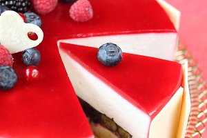 Summer Berries Mousse Cake