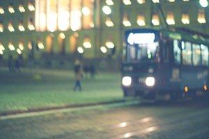 Tram coming