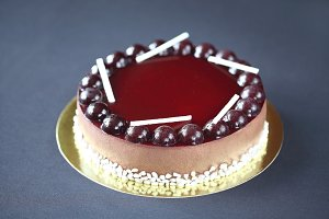 Chocolate Berry Mousse Cake