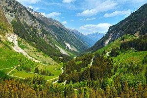 Alpine summer view  (Austria)